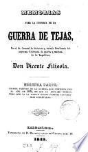 Memorias para la historia de la guerra de Tejas