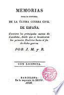 Memorias para la historia de la última guerra civil de España, 1
