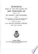 Memorias para la vida del santo rey Fernando III