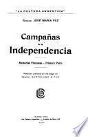 Memorias póstumas: pte. Campañas de la independencia