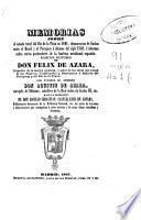 Memorias sobre el estado rural del Río de la Plata en 1801... e informes sobre varios particulares de la América meridional española