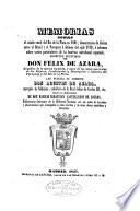 Memorias sobre el estado rural del Rio de la Plata en 1801