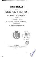 Memorias sobre la Exposición Universal de 1862 en Londres