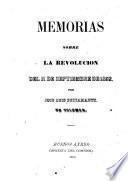 Memorias sobre la revolucion del 11 de septiembre de 1852