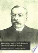 Memorias y revista de la Sociedad CientíficaAntonio Alzate.