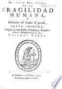 Menasseh Ben Israel de la fragilidad humana y inclinacion del hombre al peccado. Parte primera