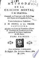 Methodo de la oracion mental y su practica