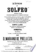Método de Solfeo, etc