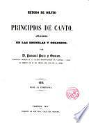 Método de Solfeo y principios de canto
