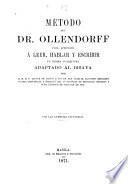 Método del Dr. Ollendorff para aprender á leer, hablar y escribir un idioma cualquiera adaptado al bisaya