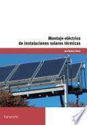 MF0603_2 - Montaje eléctrico de instalaciones solares térmicas
