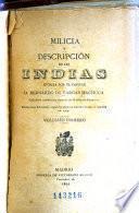 Milicia y descripcíon de las Indias