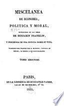 Miscelanea de economia, politica y moral
