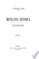 Miscelanea histórica catalana