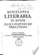 Miscelanea literaria