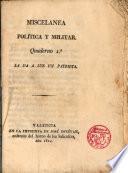 Miscelanea Política y militar