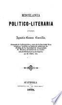 Miscelánea político-literaria