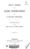 Mision y deberes de las clases conservadoras bajo la monarquía democrática