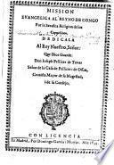 Mission Evangelica al Reyno de Congo por la Serafica Religion de los Capuchinos