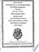 Mission evangelica al Reyno del Congo por la Serafica Religión de los Capuchinos ...
