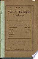 Modern Language Bulletin