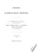 Modern Language Notes