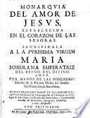 Monarquia del amor de Jesús establecida en los corazones de las señoras
