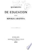 Movimiento de Educacion en la República Argentina
