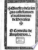 Muestra de la lengua castellana en el nascimiento de Hercules o Comedia de Amphitrion