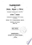 Napoleón en Italia, Egipto y Siria