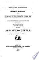 Naturaleza y evolución del fuero constitucional o de altos funcionarios