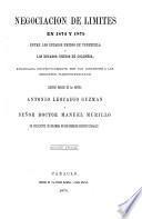 Negociación de límites en 1874 y 1875 entre los Estados Unidos de Venezuela y los Estados Unidos de Colombia