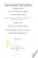 Negociacion de Límites en 1874 y 1875 entre ... V. y ... Colombia ... Edicion oficial