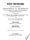 Neues Spanisch-Deutsches und Deutsch-Spanisches Wörterbuch