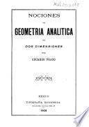 Nociones de geometría analítica de dos dimensiones por Eduardo Prado