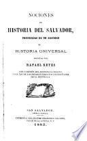 Nociones de historia del Salvador