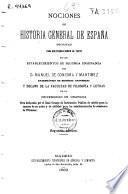 Nociones de historia general de España