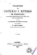 Nociones de sistemas y métodos de enseñanza