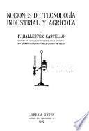 Nociones de tecnología industrial y agrícola