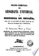 Nociones elementales de geografía universal é historia de España