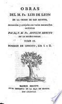 Nombres De Christo, Lib. I. y II.
