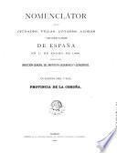 Nomenclátor de las ciudades, villas, lugares, aldeas y demás entidades de población de España en 1. de enero de 1888