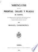 Nomenclator de las puertas, calles y plazas de Valencia