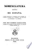 Nomenclatura geográfica de España