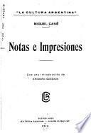 Notas e impresiones