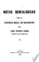 Notas genealógicas para la historia social de Valparaíso