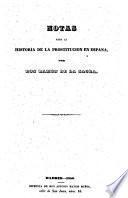 Notas para la historia de la prostitucion en España