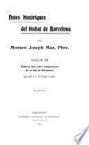 Notes históriques del bisbat de Barcelona: Rúbrica del Libri antiquitatum de la Séu de Barcelona