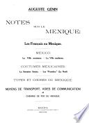 Notes sur le Méxique