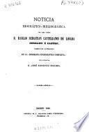 Noticia biográfico-bibliográfica del ilmo. señor D. Basilio Sebastian Castellanos de Losada director literario de la Biografía Eclesiastica Completa